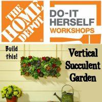 DIH Workshop build this vertical succulent garden
