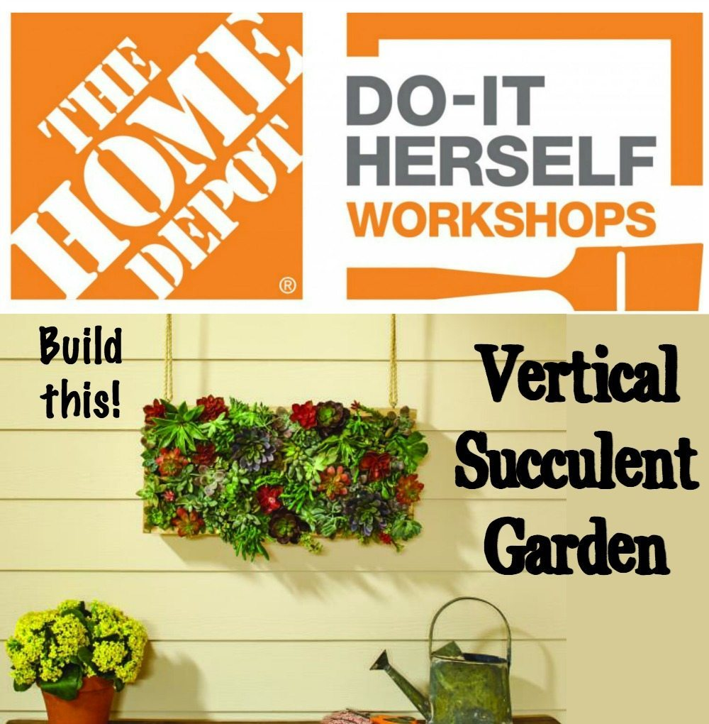 DIH Workshop build this vertical succulent garden