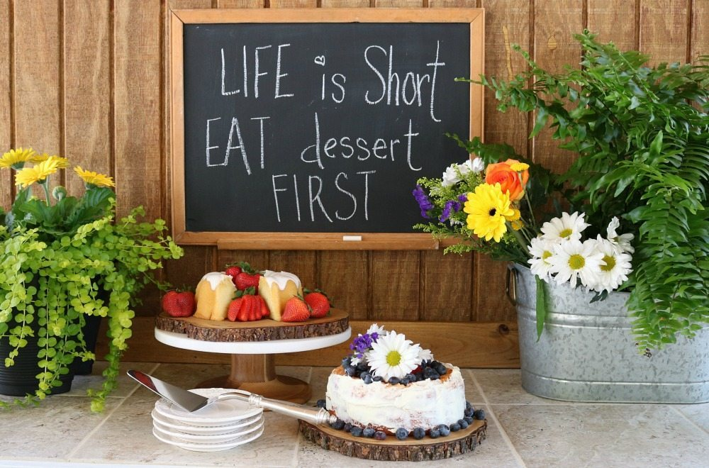 Dessert bar perfect for the ease of an outside dinner party