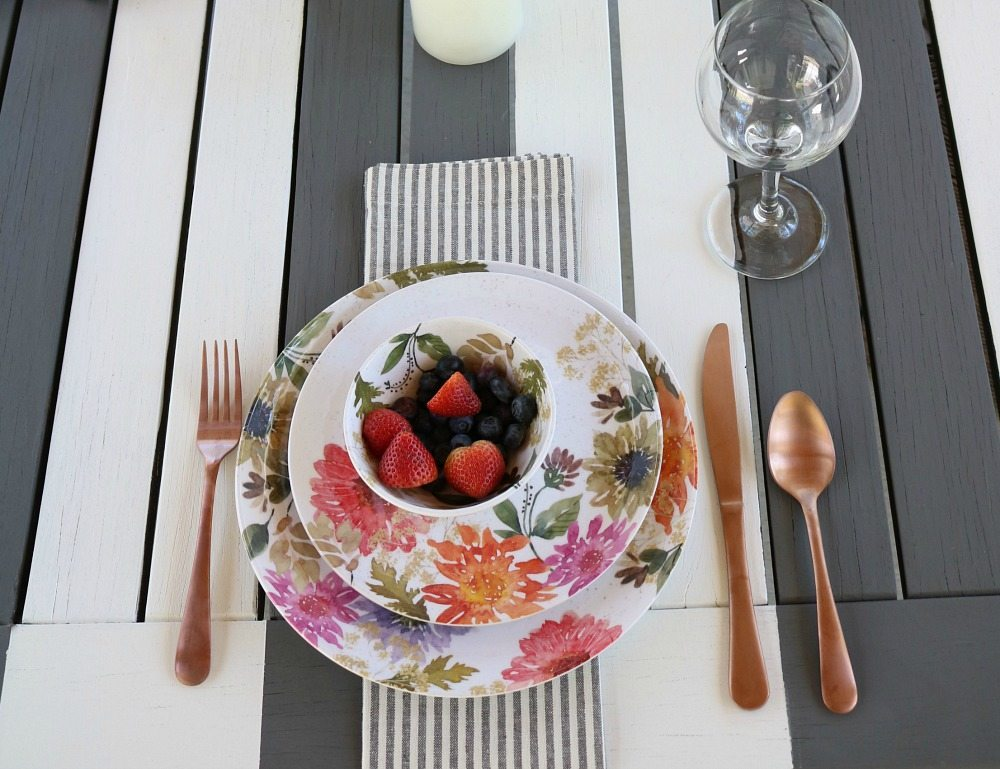 Fun spring and summer dinnerware from Better Homes and Gardens at Walmart