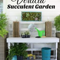 Make this vertical succulent garden