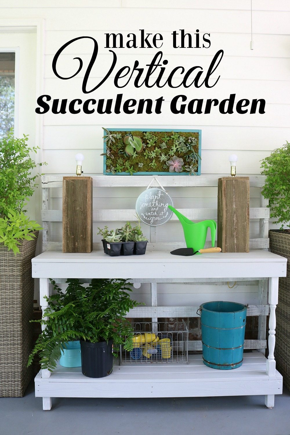 Make this vertical succulent garden