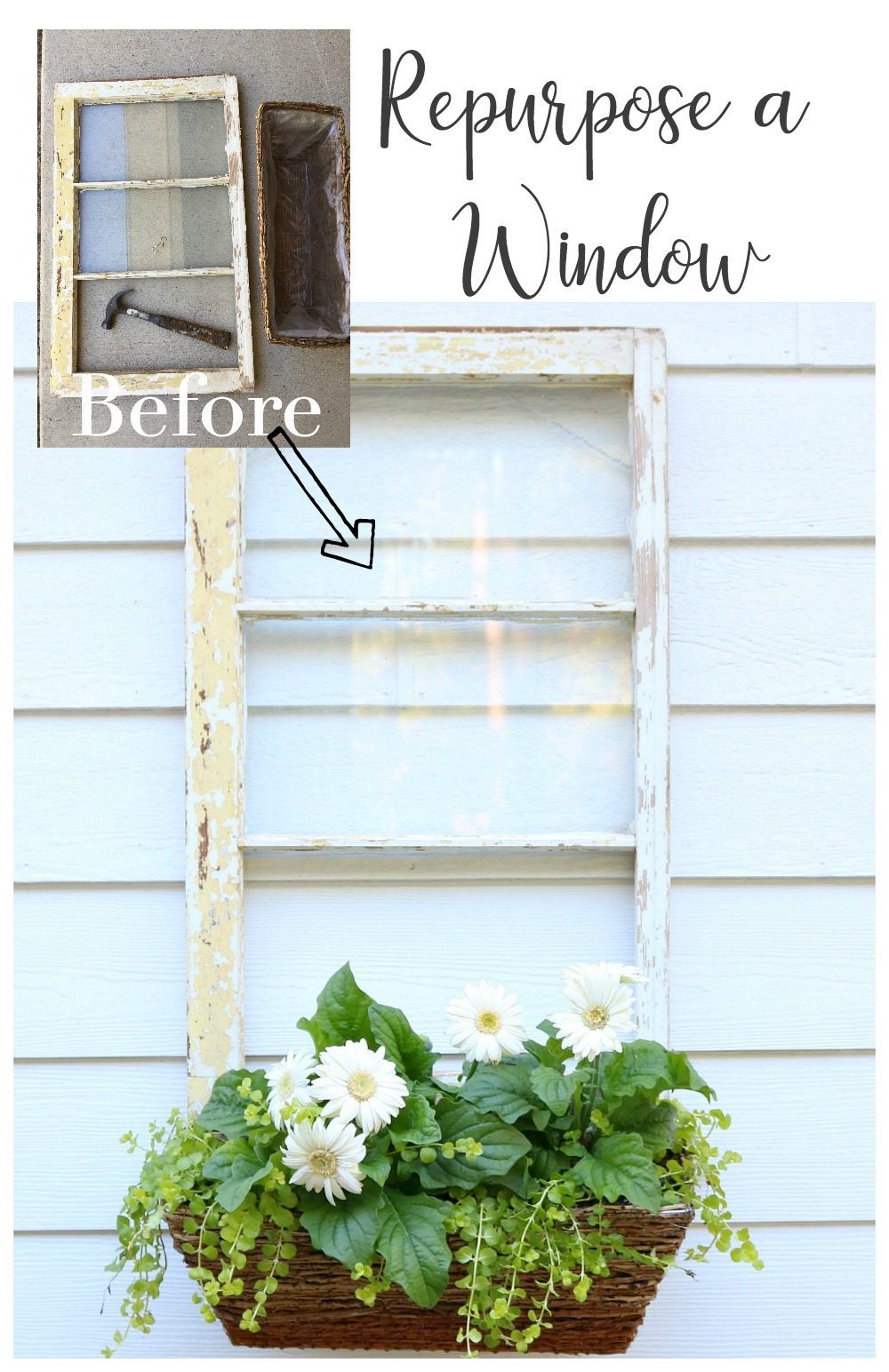 Old window idea repurpose it