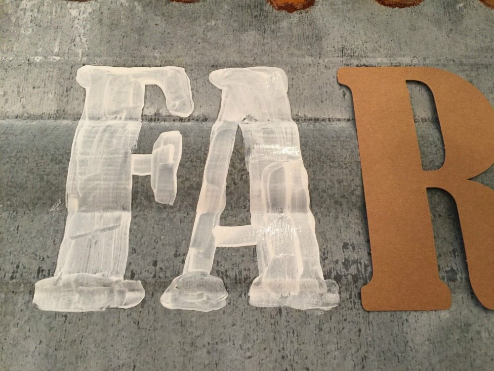 Trace letters and paint with craft paint to make any sign