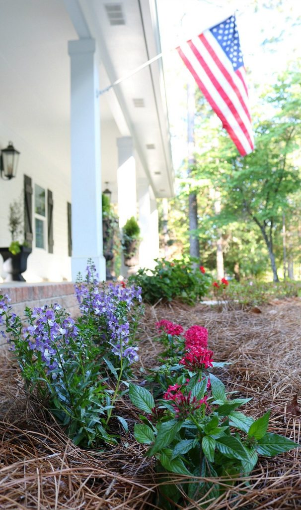 Add a little color in the garden to freshen up the curb appeal