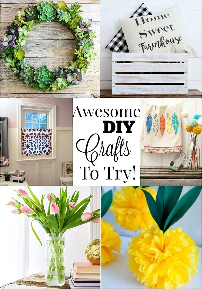 Awesome DIY crafts to try