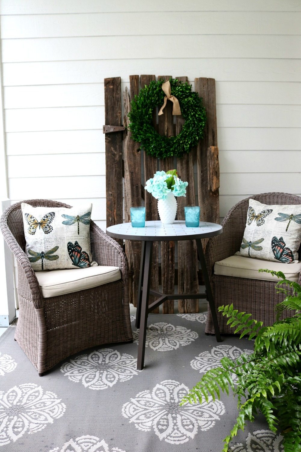 Bistro table perfect for relaxing on the porch at Refresh Restyle