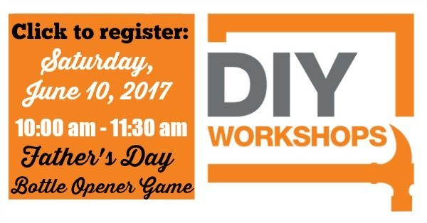 Click to register for Home Depot DIY workshop for Father's Day