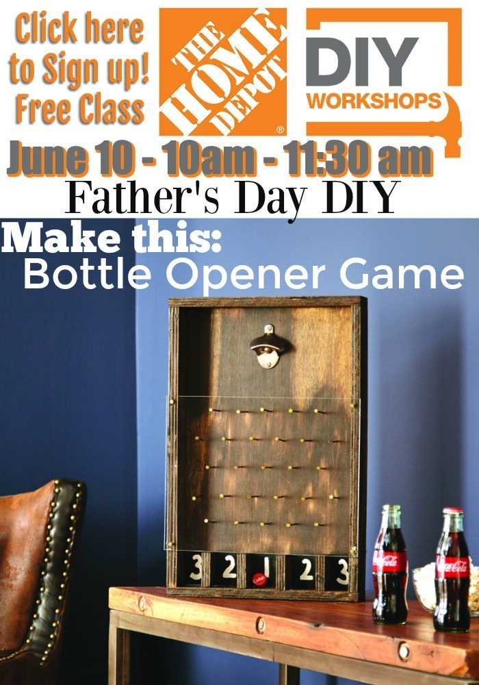Home Depot DIY Fathers Day Workshop