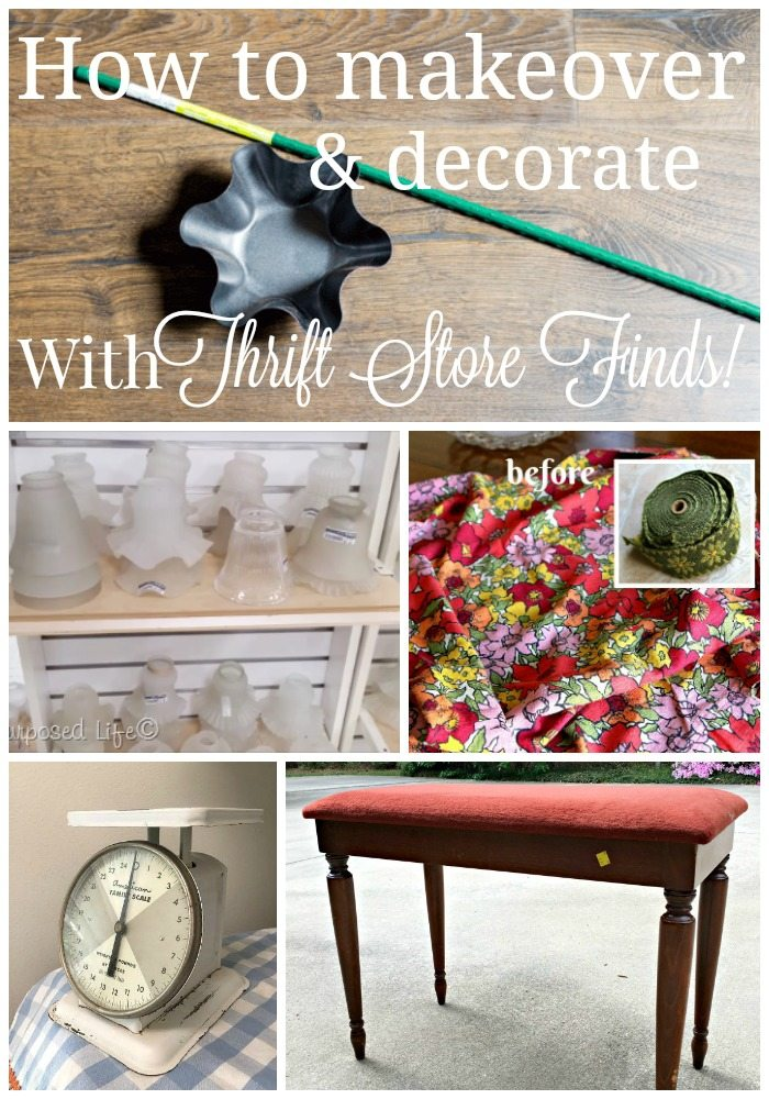 How to makeover and decorate with thrift store finds