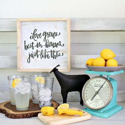 Vintage Kitchen Scales Makeover