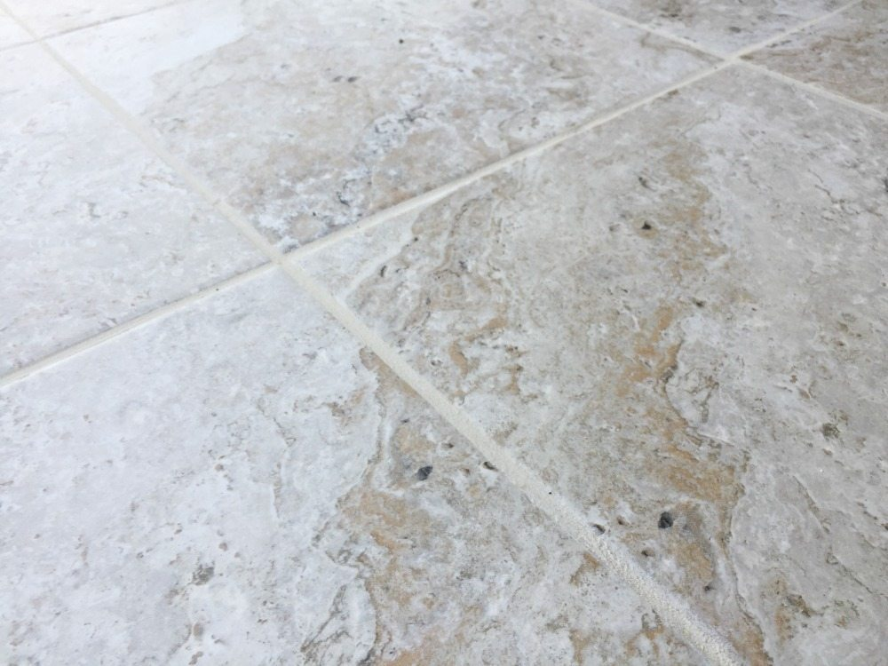 Marazzi Trevi 12 x 12 porcelain tile used on outdoor kitchen countertop at Refresh Restyle