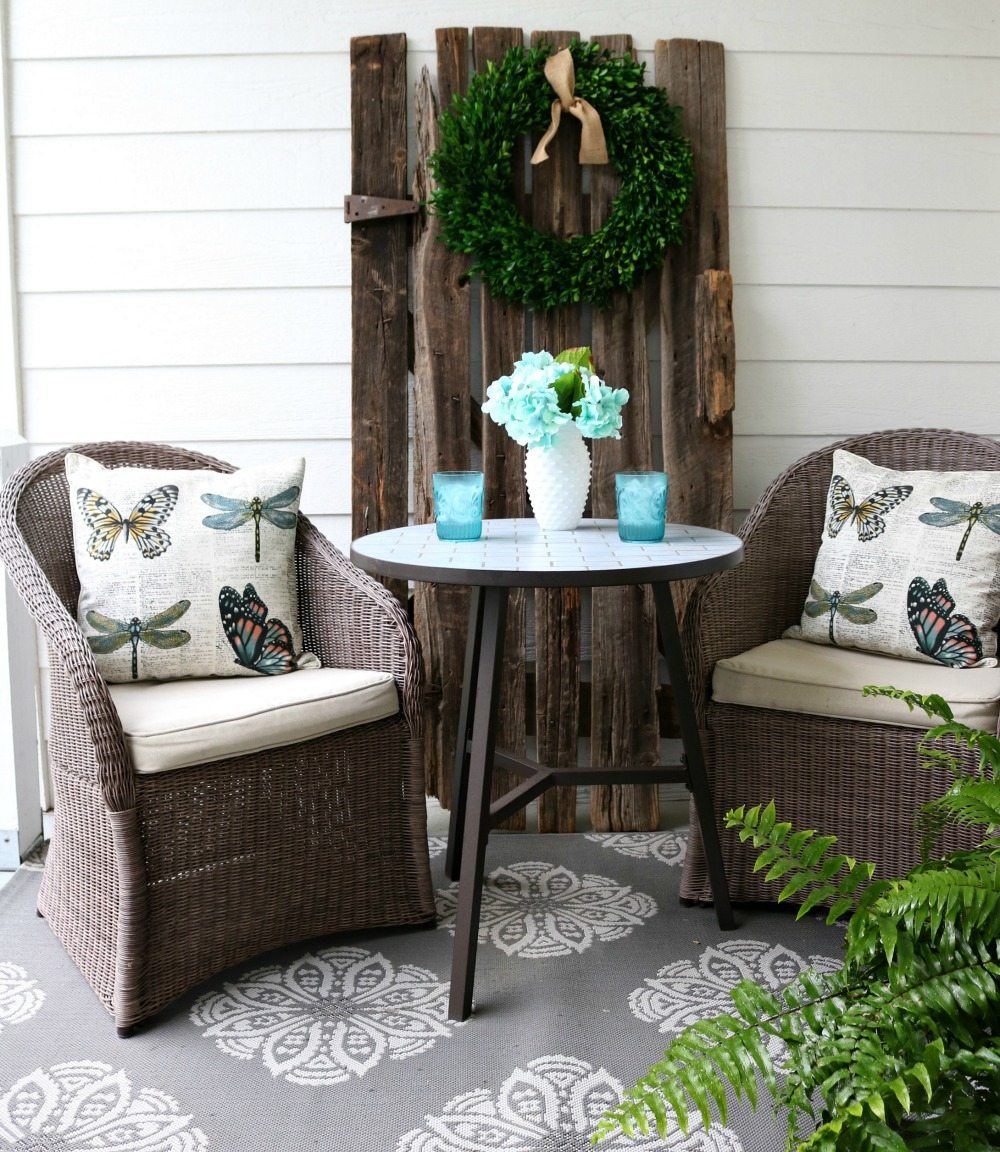 Start the morning out Porch sitting warm summer days at Refresh Restyle summer home tour