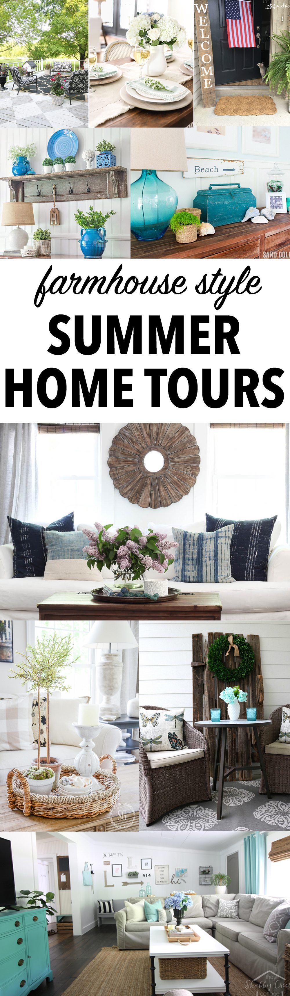 farmhouse summer home tours