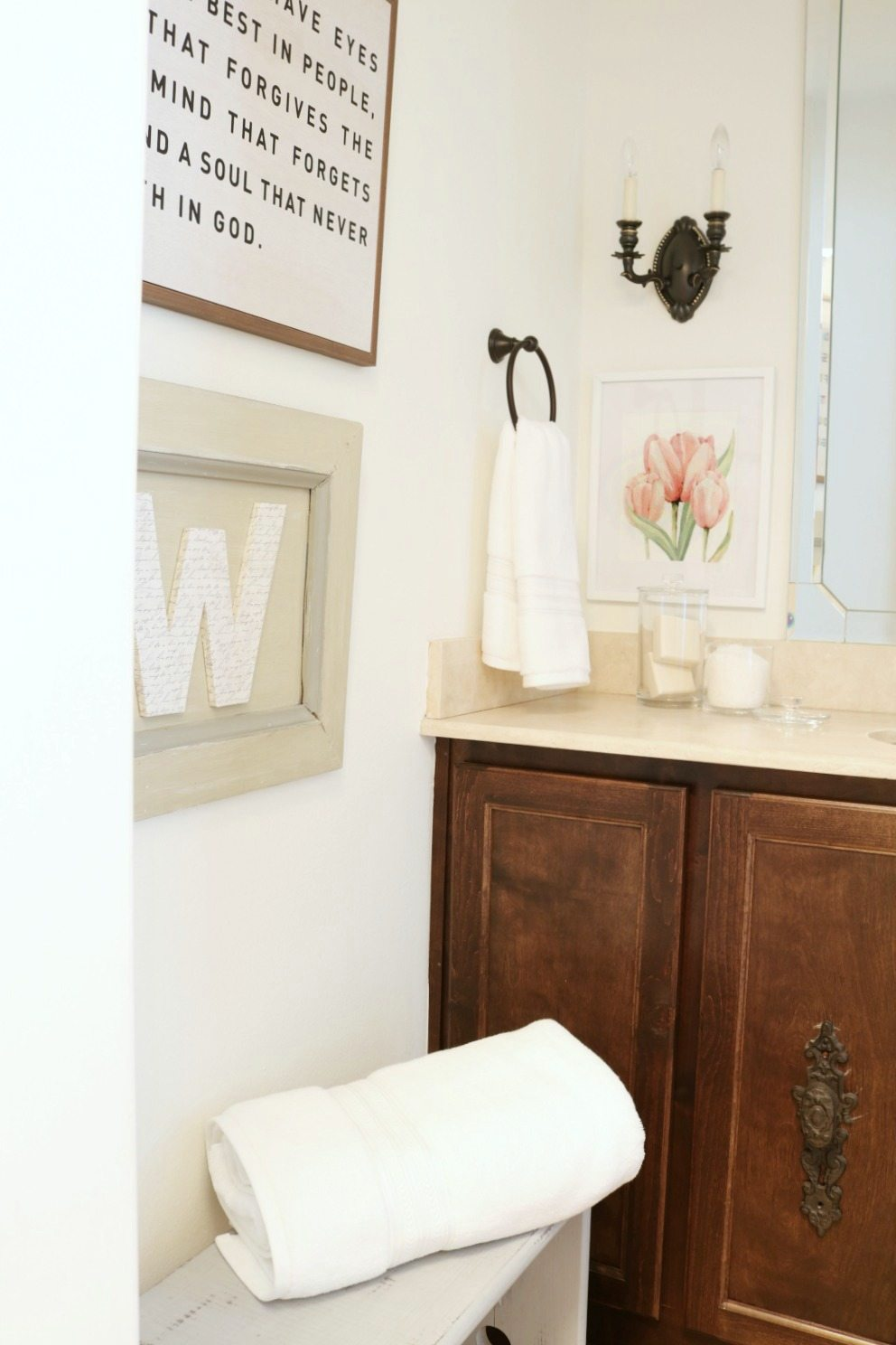 Bathroom refresh on a budget at Refresh Restyle