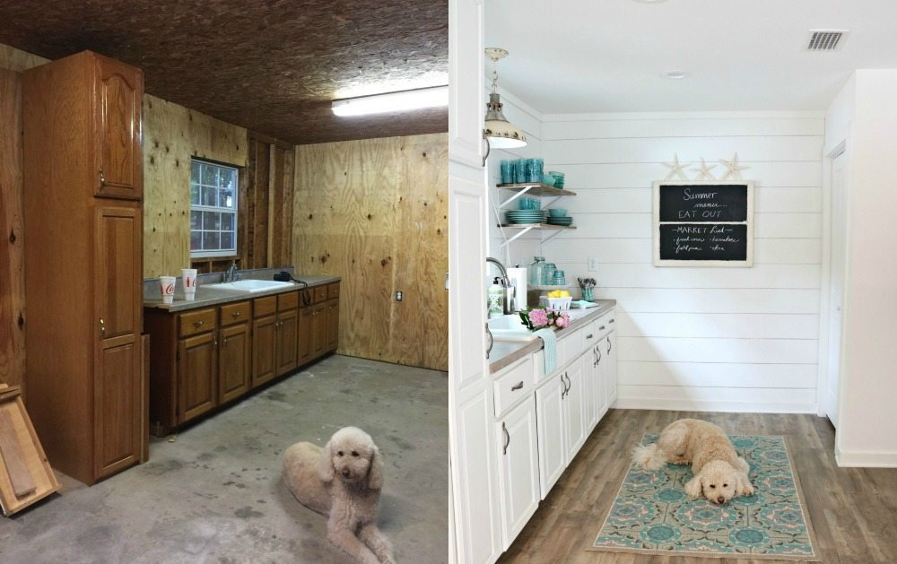 Before and After of the farmhouse cottage at Refresh Restyle