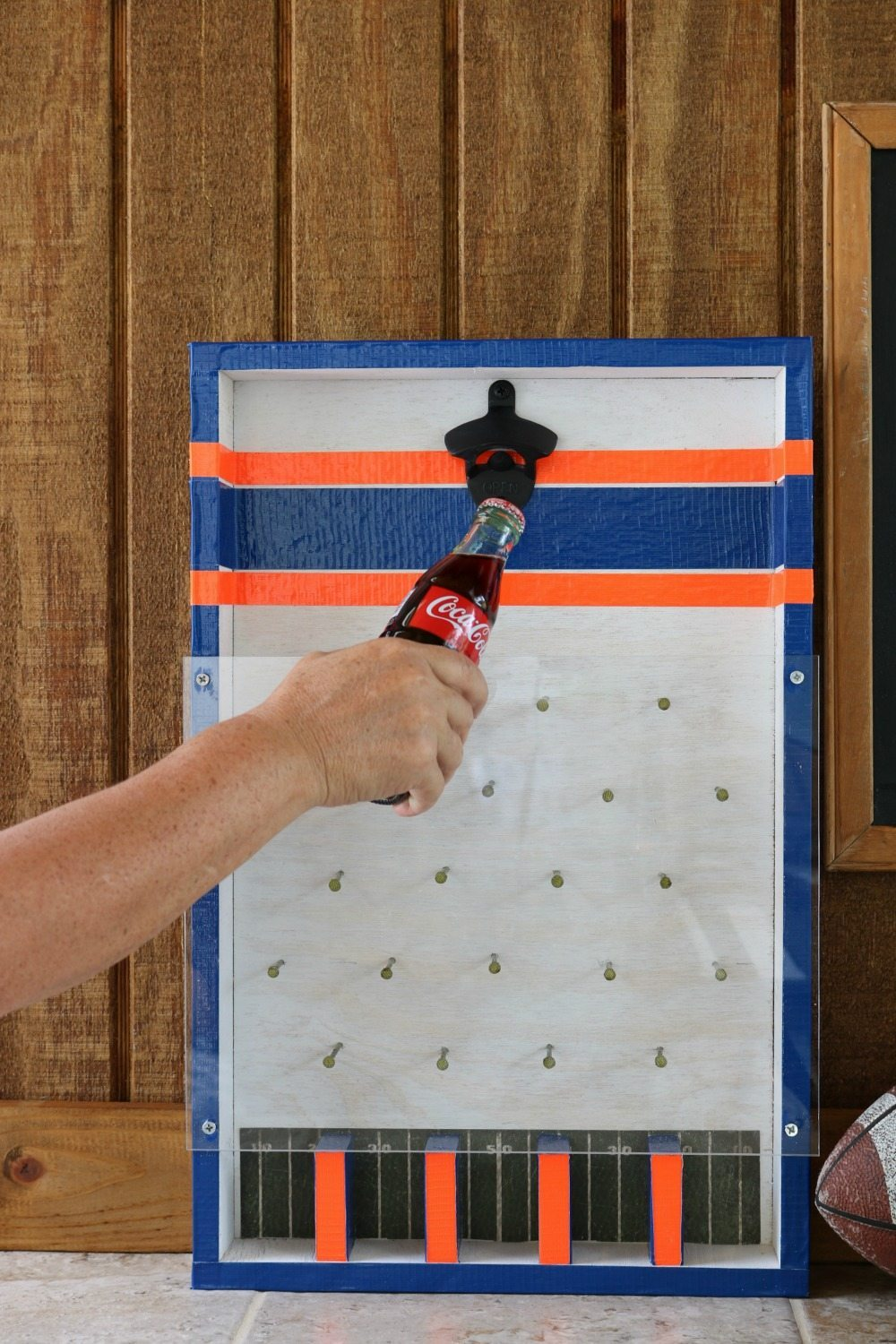 Bottle opener game with Auburn colors at Refresh Restyle