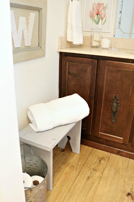 Farmhouse bathroom refresh on a budget