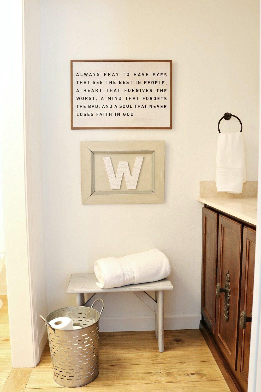 Farmhouse guest bath refresh keep it simple and minimal