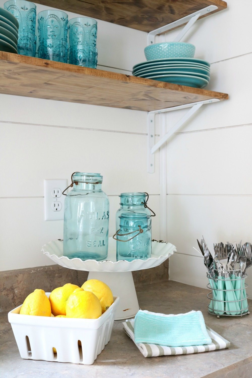 Fresh lemons in a berry basket fresh idea for the farmhouse cottage kitchen