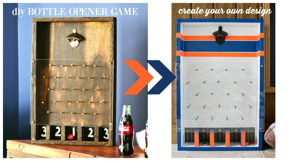 Make this DIY bottle opener game design with your style at Refresh Restyle