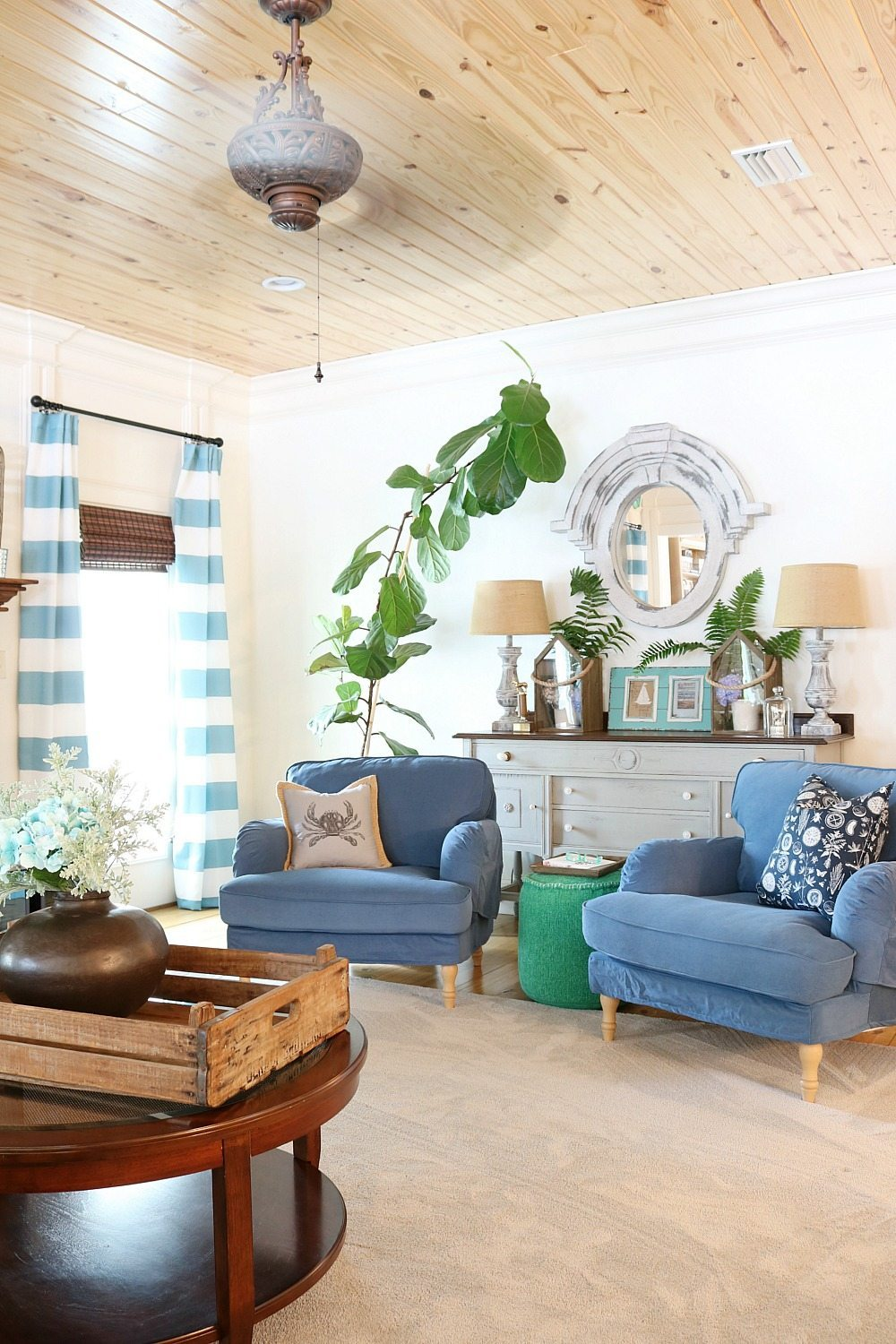 Mix of greens and blues for summer at Refresh Restyle