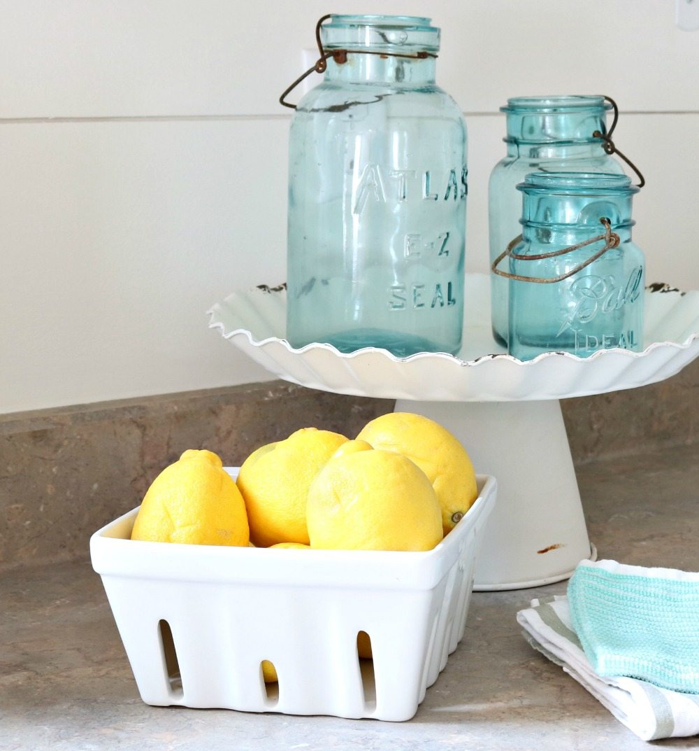 Old mason jars are perfect for the farmhouse cottage
