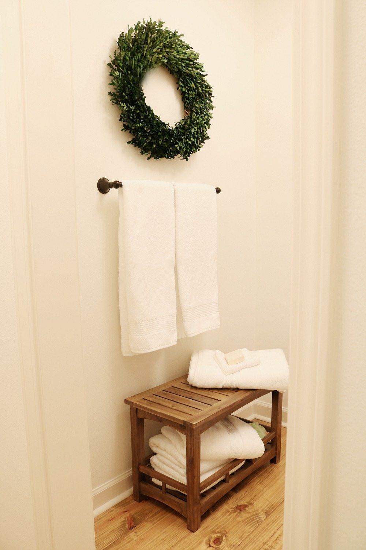 Simple farmhouse guest bath refresh