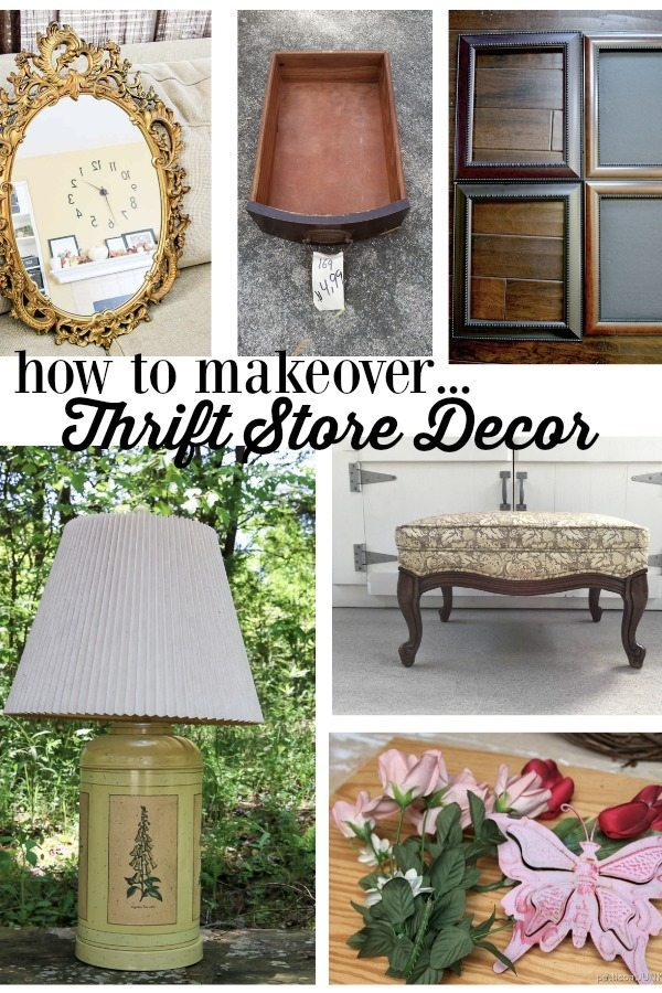 how to make over thrift store decor to use in your home