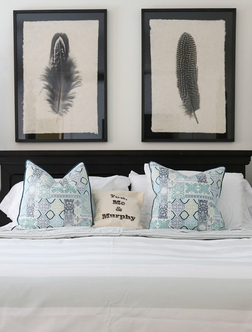 shades of blue are perfect for a cool summer bedroom