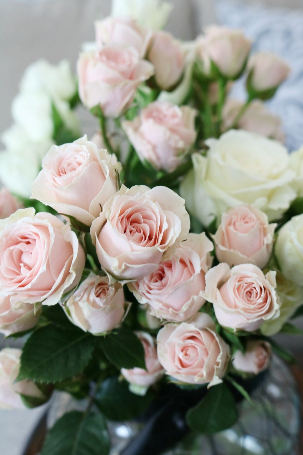 Blush colored roses are perfect for any vase