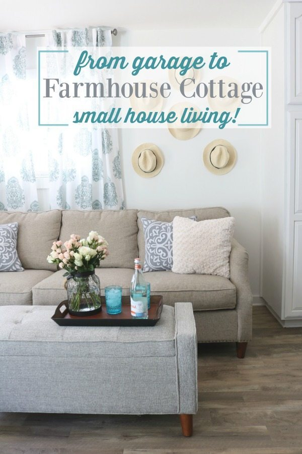 Converted garage is now a tiny house farmhouse cottage