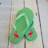 Dress up cheap flip flops with iron on vinyl