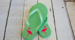 Dress up cheap flip flops with iron on vinyl