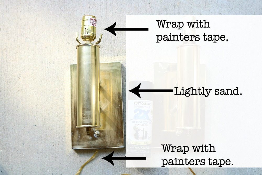 How to prep for spray paint