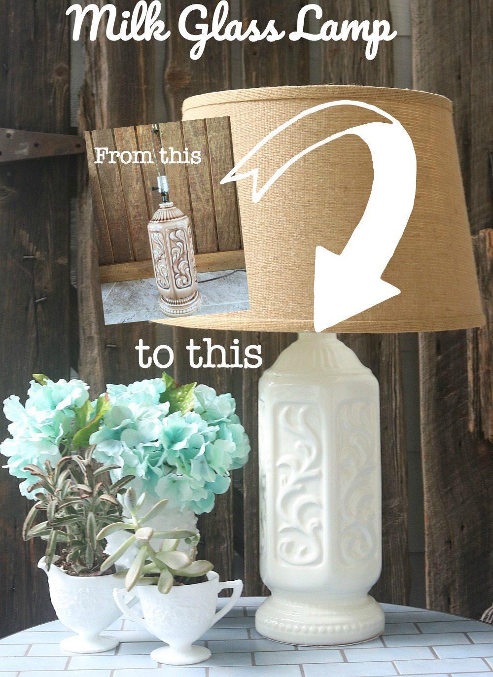 Milk Glass lamp transformation
