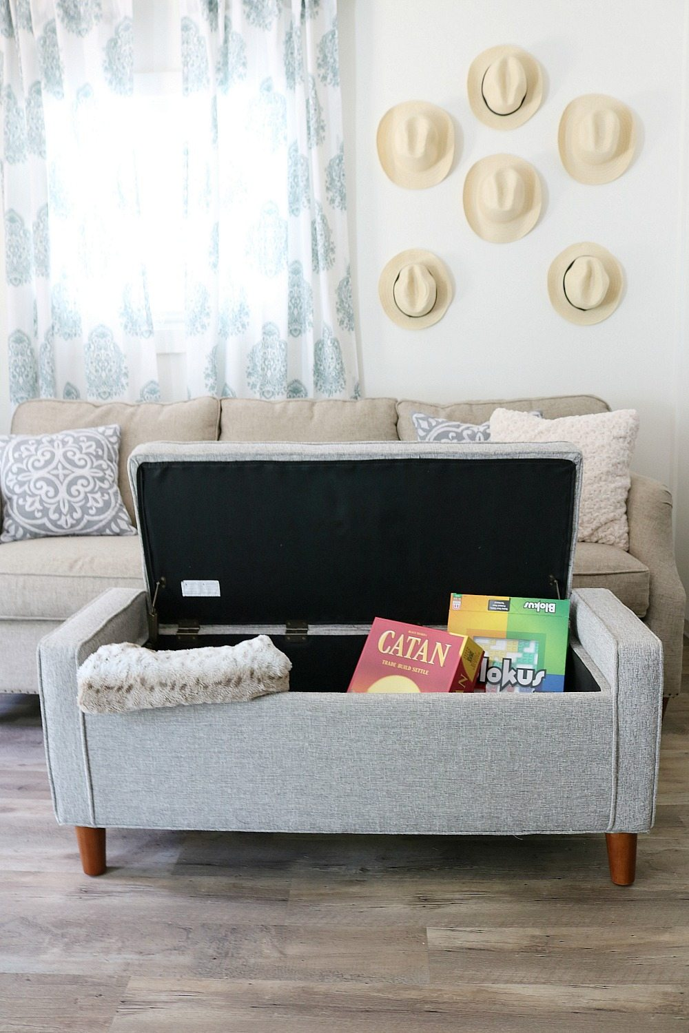 When storage is needed this bench is perfect for small house living