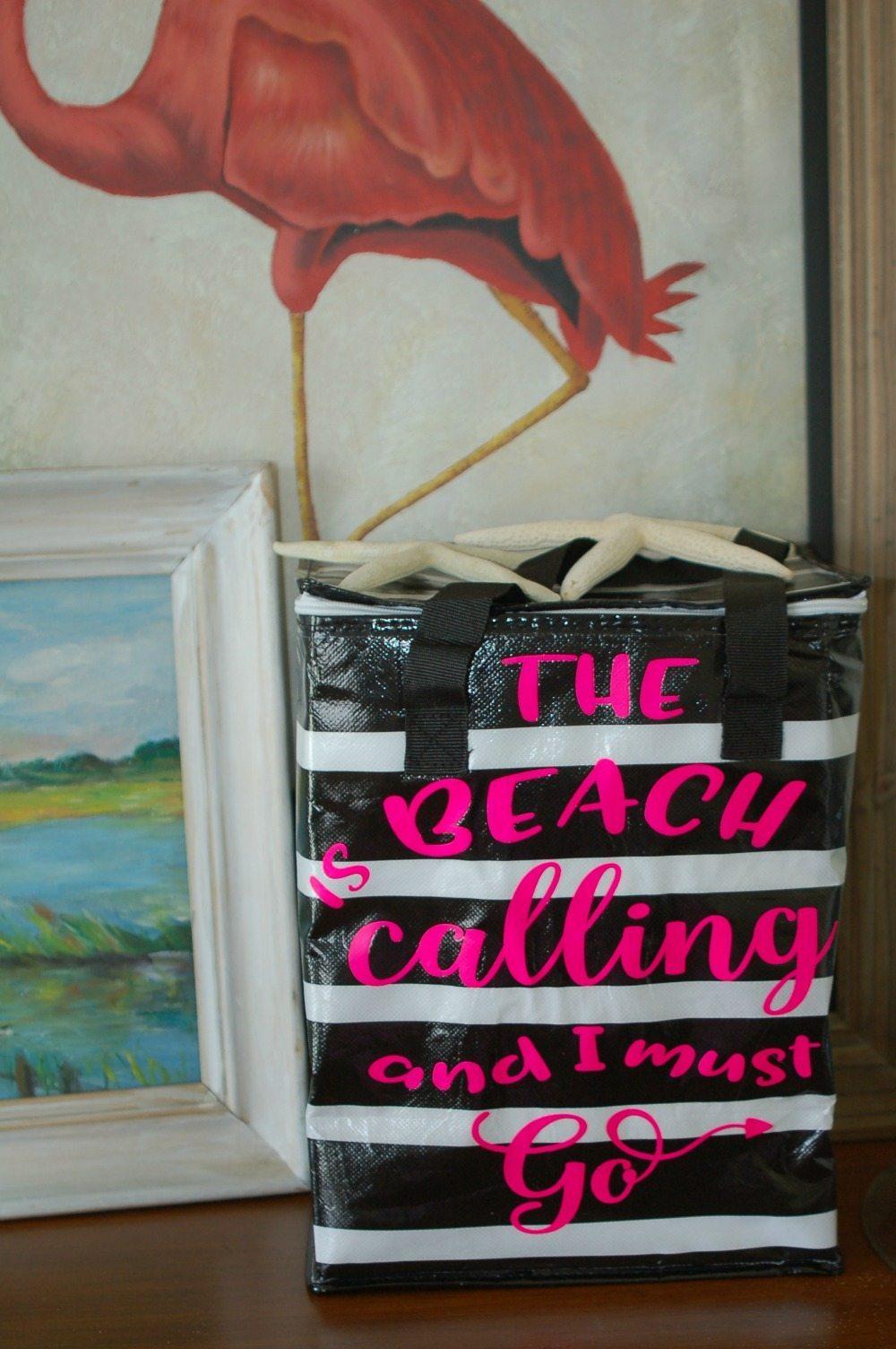 the beach is always calling my name love this insulated beach bag idea