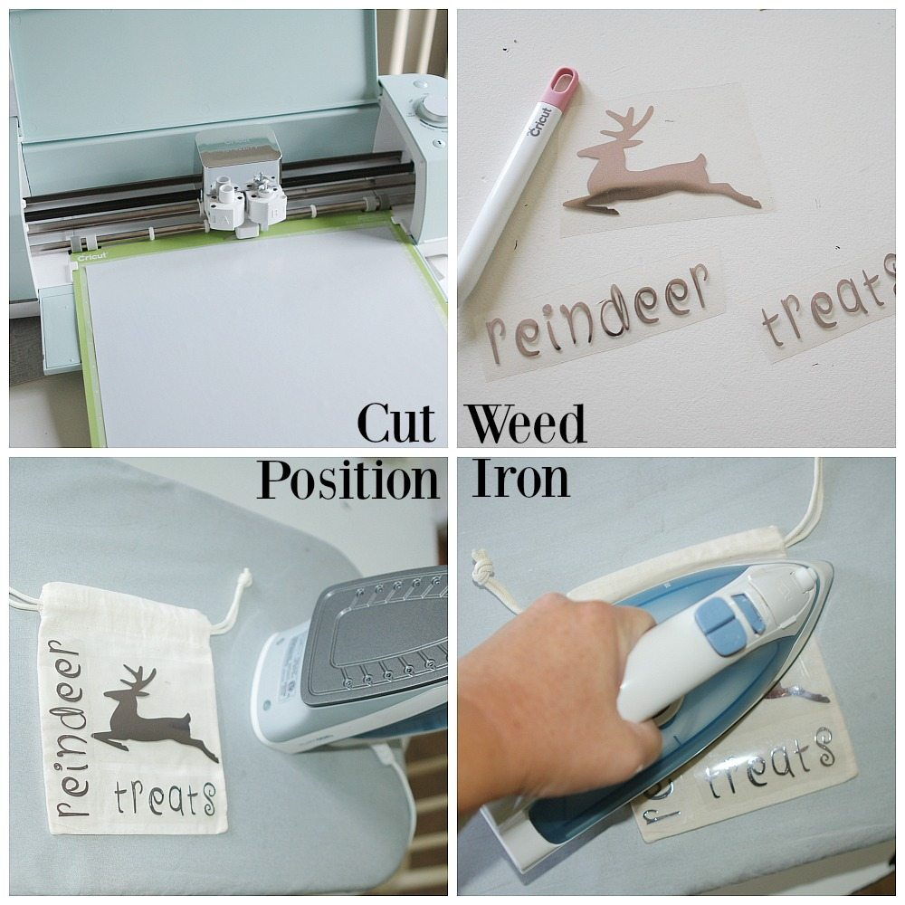 Creating treat bags with a Cricut and heat transfer vinyl