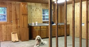 Farmhouse cottage kitchen before painting at Refresh Restyle