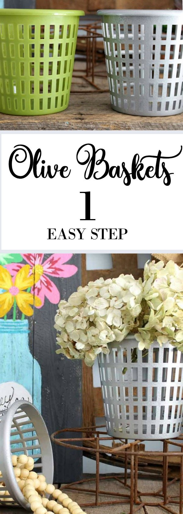 Olive Baskets easy to make decor great for farmhouse or rustic