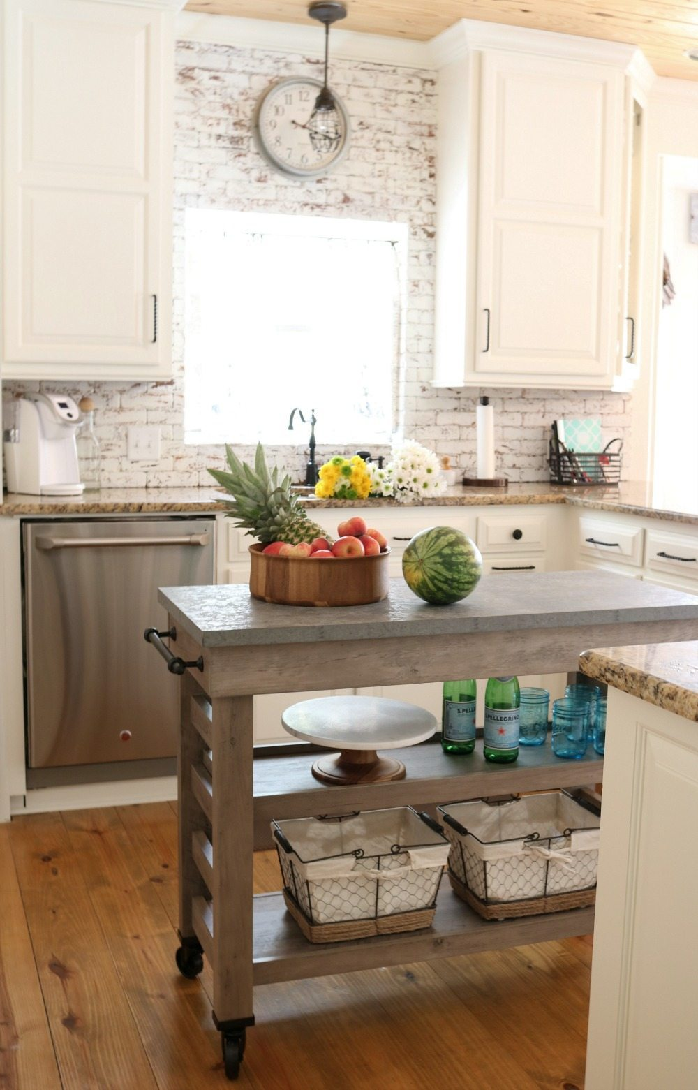 Plenty of storage in this Light and bright country kitchen
