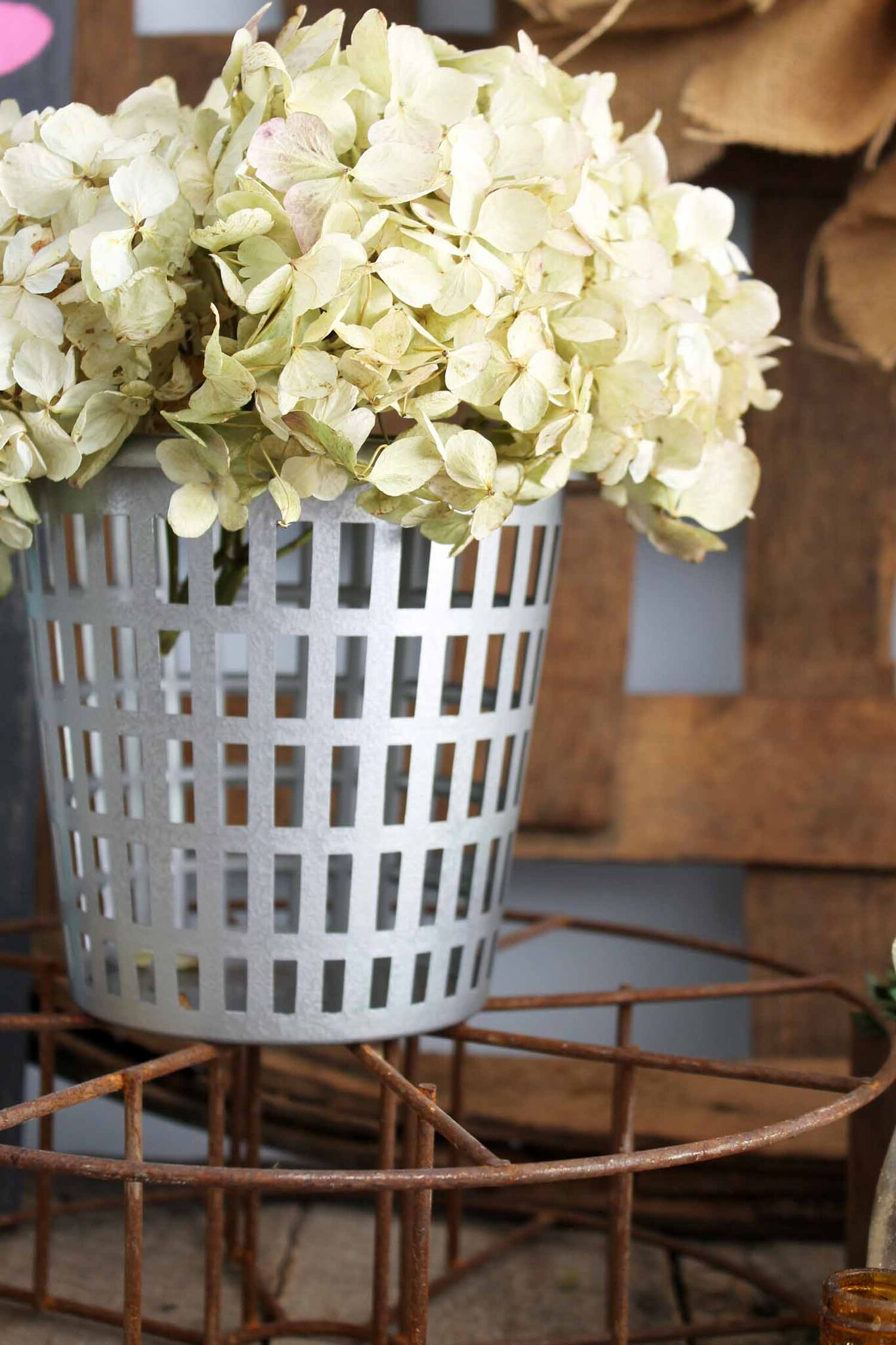 The perfect rustic touch for farmhouse decor the olive basket