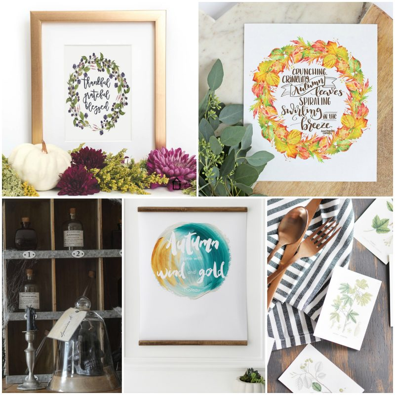 Lovely fall printables