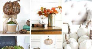 20 Beautiful Farmhouse Style Pumpkin Decor Ideas