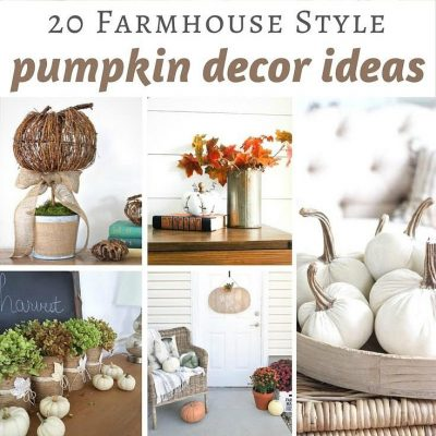 20 Beautiful Farmhouse Style Pumpkin Decor Ideas