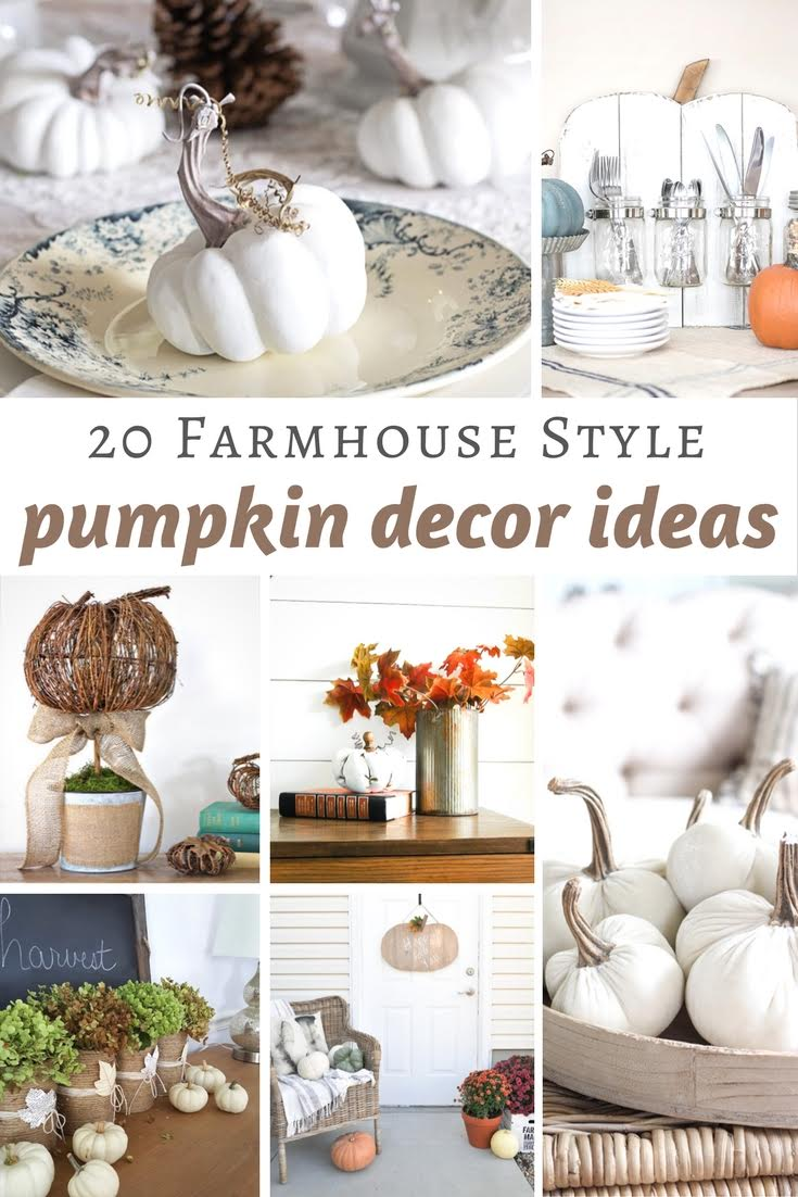 20 Farmhouse Style Pumpkin Decor Ideas