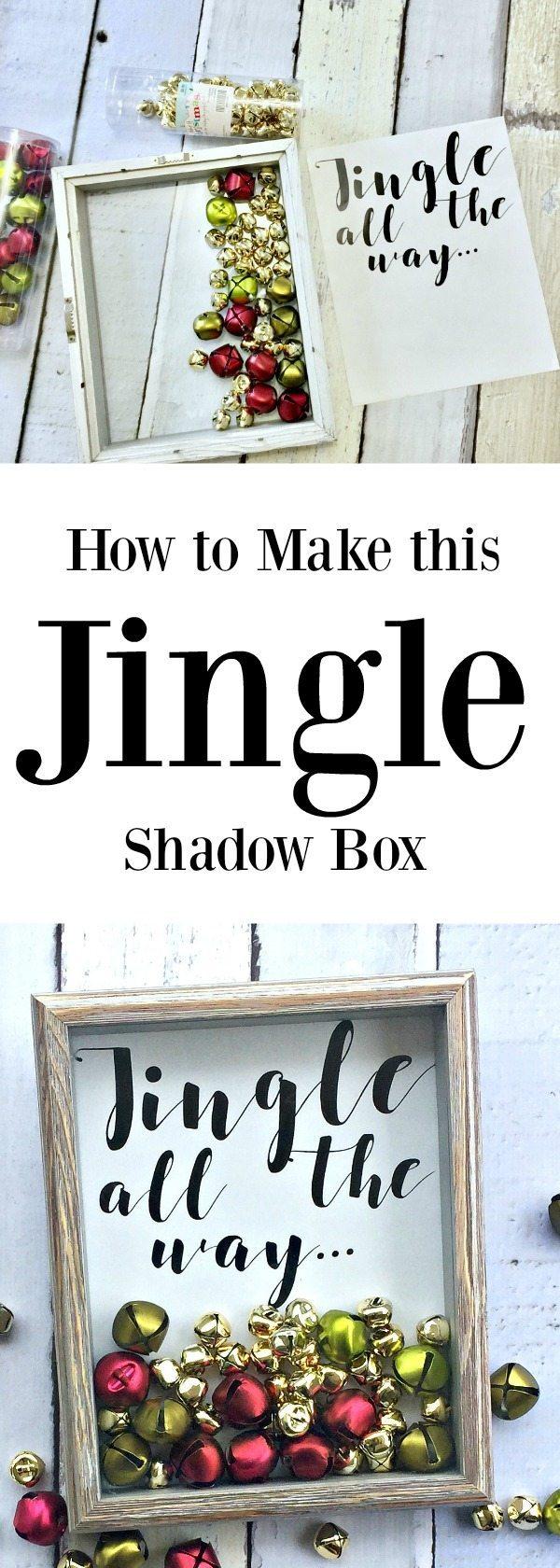 How to make the Christmas decor Jingle Shadow Box