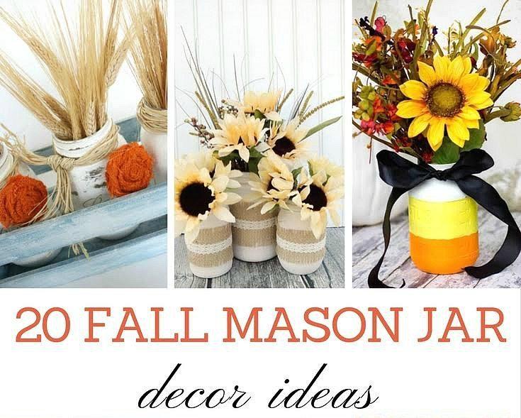 Love these Fall Mason Jar Ideas