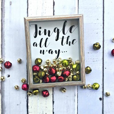 Make this Christmas Jingle all the way shadow box with your vinyl cutter Cricut